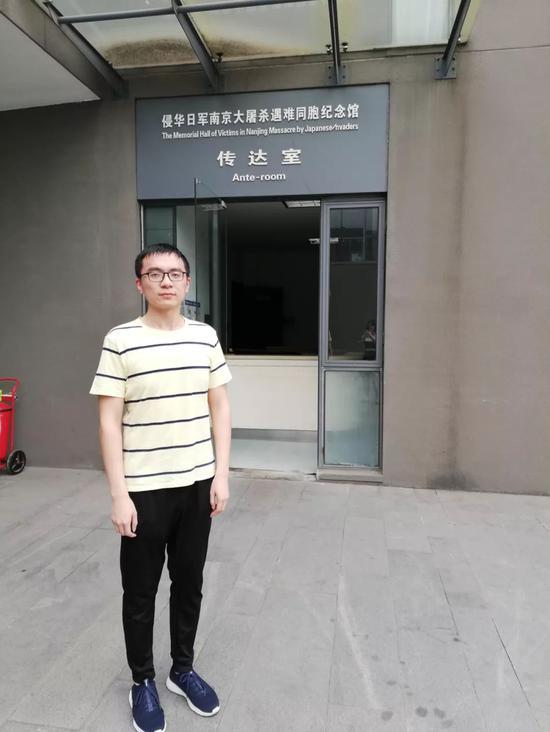 阮杰曾正在暑假时到留念馆担当意愿者(图片由受访者供给)