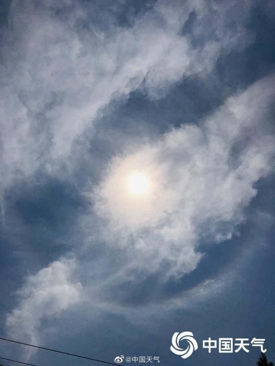 北杏悦京3天现2次日晕下午要防暑防风,杏悦图片