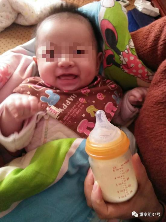 ▲甜甜出生快满100天。 受访者供图