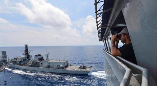 美英海军海上联合演习(资料图)
