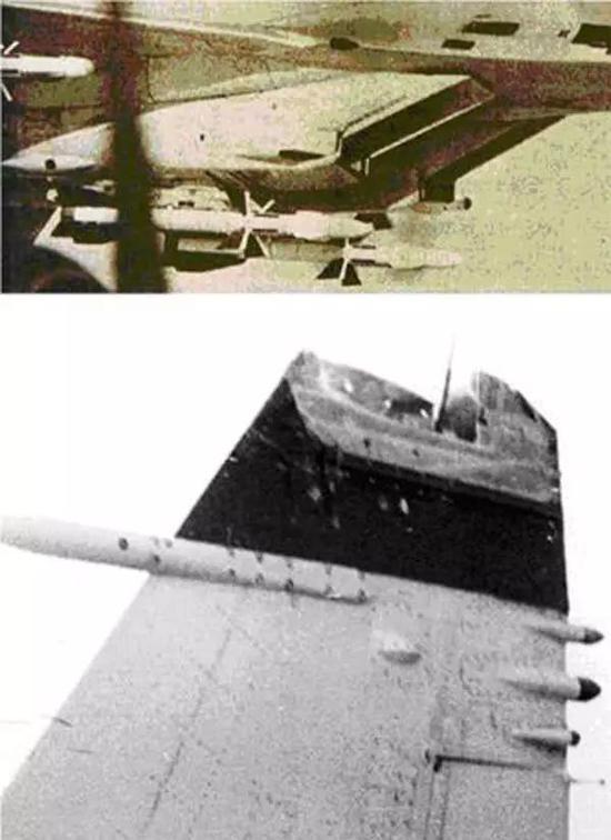 """▲資料圖片:圖爲蘇軍人員拍攝的""""紅色36""""蘇-27的受損垂尾資料照片"""