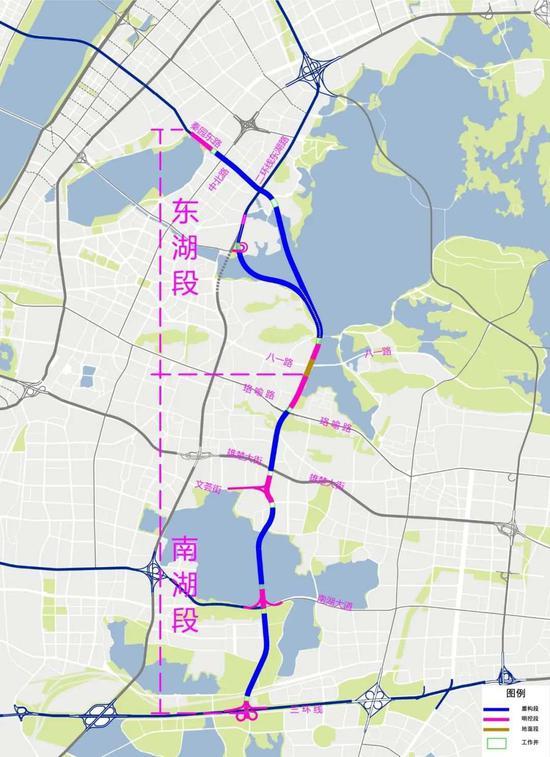 两湖隧道工程表示图