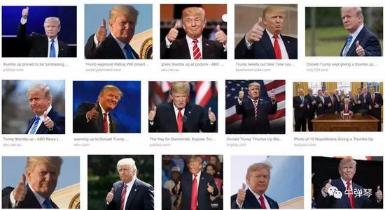 注意:1,普京朝川普竖起了大拇指;2,川普拍了拍普京的背。