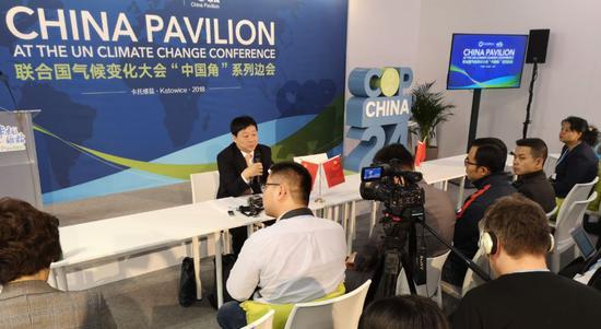 中國生態環境部氣候司司長、中國代表團副團長李高中新社 陳溯/攝