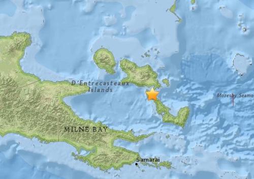 巴布亚新几内亚东部发生5.4级地震 震源深10公里