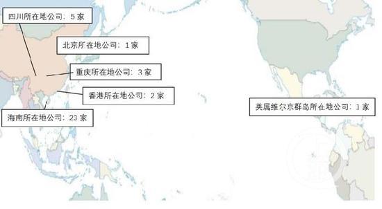 ▲舉報人整理的張家慧、劉遠生實際控制公司分佈圖。受訪者供圖