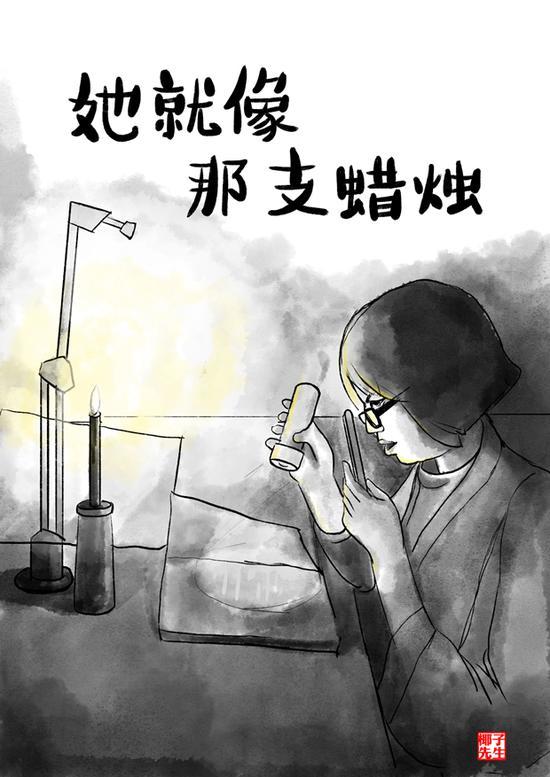 """新华网评·""""疫""""中人:烛光图片"""