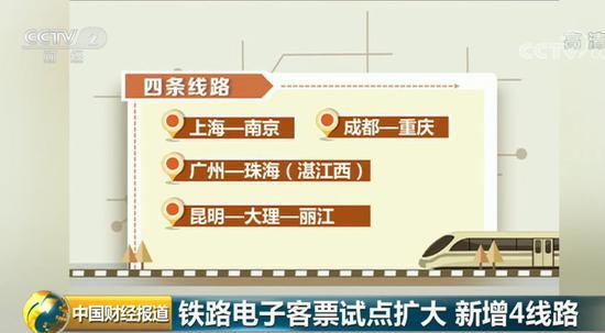 高铁电子客票已有2000万人次试用 又新增四条线路|高铁|电子客票