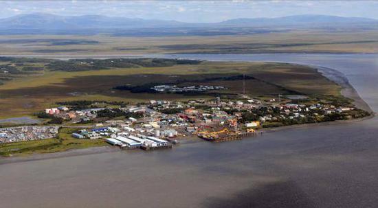 (图说:当地一个处于争议中心的渔业社区)