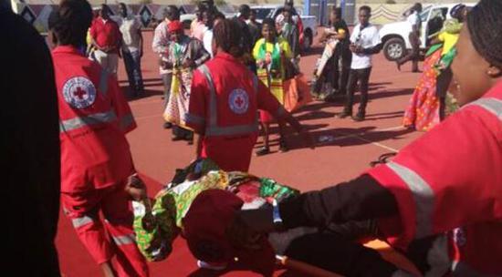 津巴布韦集会爆炸致42人受伤,其中6人重伤。(图源:推特)