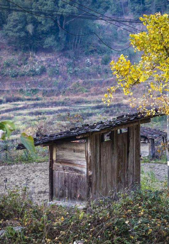 乡下老式涝厕,图片滥觞@VCG