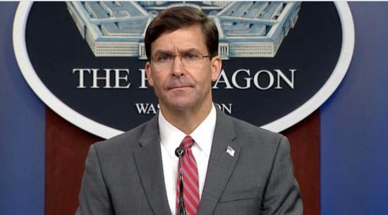 美国国防部长马克·埃斯珀(图源:美联社)
