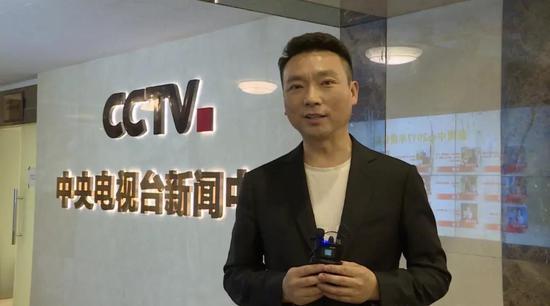 △ 央视《新闻联播》播音员 康辉