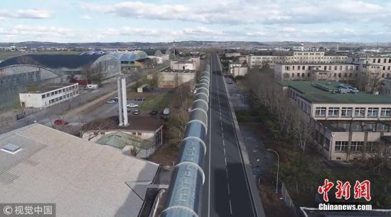 2018年4月16日消息,欧洲首个超级高铁的测试跑道在法国图卢兹开始建设。 图片来源:视觉中国