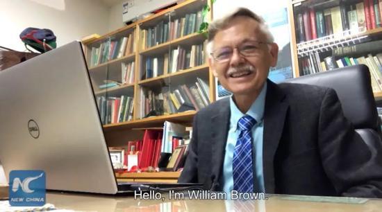 ▲美国教授潘维廉(新华社报道截图)