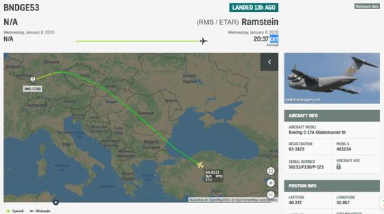 伊朗导弹袭击后 美军一运输机从伊拉克起飞引猜测 导弹 伊拉克