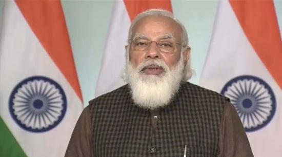 莫迪发表新年致辞:新的一年,将为印度带来许多转变