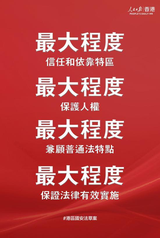 人民日报:维护国家安全立法,香港特区受信任有责任图片