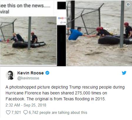 """《纽约时报》记者凯文·鲁斯在推特上""""辟谣""""。"""