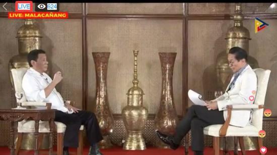 杜特尔特:反对派要9月21日暗杀我 想要动手就要快
