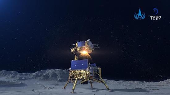 嫦娥五號上升器進入預定軌道 實現我國首次地外天體起飛圖片