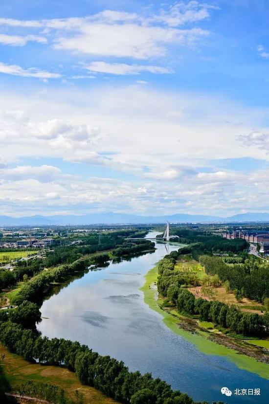 大运河生态文明带温榆河段。
