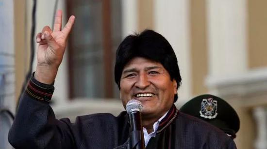 ▲玻利维亚总统莫拉莱斯