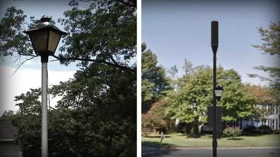 一些美国运营商还打算改造现有的基础设施(如路灯等),在此基础上架设基站 图自CBS新闻网