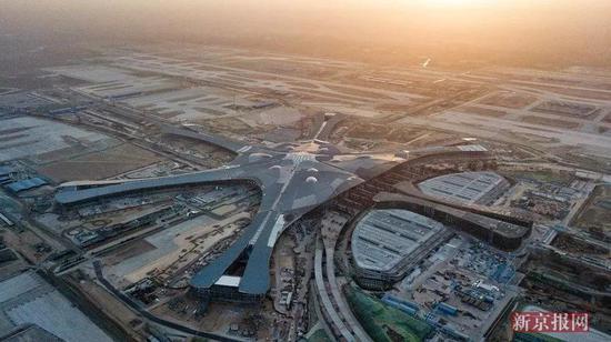 航拍北京新机场