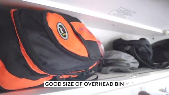 行李架内部空间(视频截图)