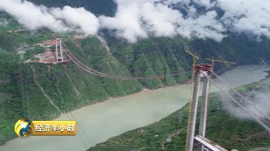 <b>又一世界奇迹 金沙江上335米凌空架起千米悬索桥|悬索桥|引桥</b>