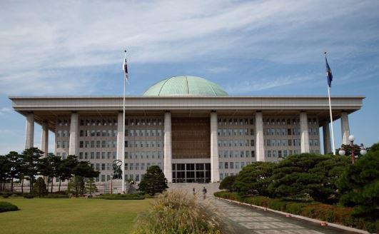位于首尔汝矣岛的国会议事堂。(韩联社)