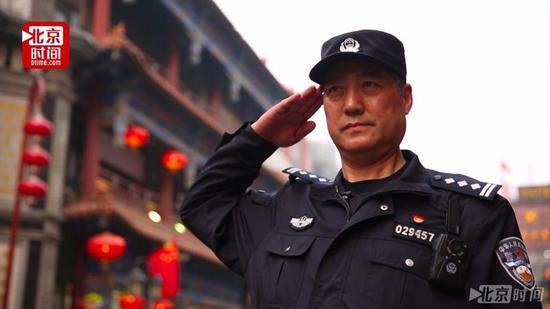 红墙卫士、大栅栏街区煤东社区民警兰文成