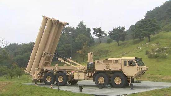"""▲已经部署在韩国星州郡的""""萨德""""导弹发射车"""