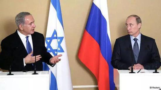 ▲资料图片:以色列总理内塔尼亚胡(左)与俄罗斯总统普京(右)会晤。