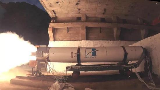 X系列火箭发动机整机试车现场