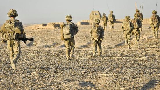英国驻阿富汗士兵(图:BBC新闻)。