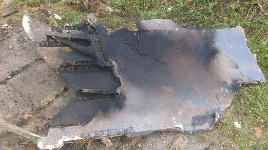 图为台军失事F-16残骸。(来源:台媒)
