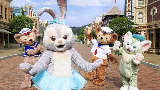 达菲和它的伙伴们。(图片来源:香港迪士尼度假区网站)