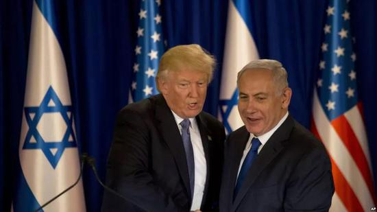 ▲资料图片:2017年5月22日,美国总统特朗普访问以色列。(美联社)