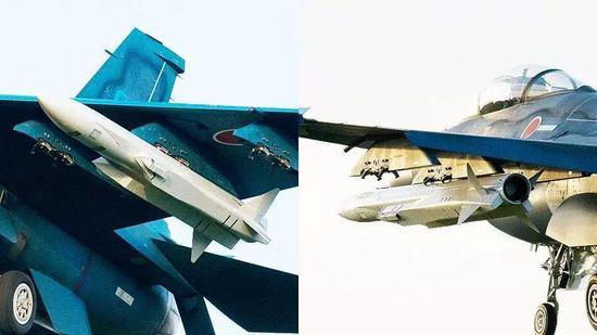 日本F-2战斗机挂载的XASM-3超音速反舰导弹