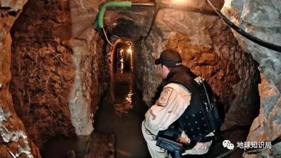 在华瑞兹发现的贩毒隧道