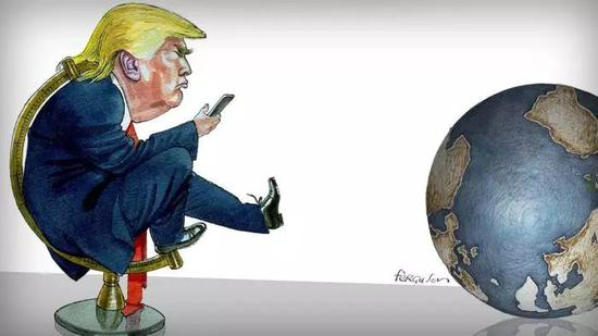 ▲川普正在搅动全世界的秩序。(英国《金融时报》)