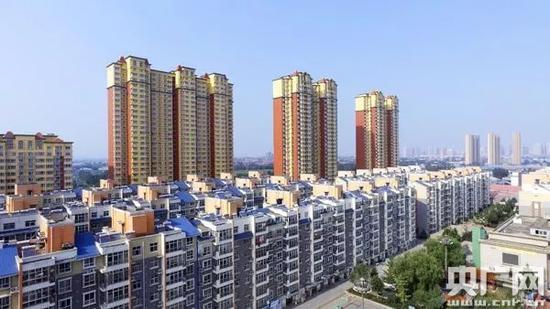 高楼林立的塔元庄村