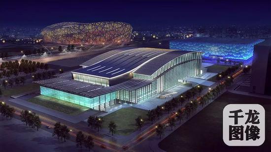 国家体育馆改造后夜景效果图