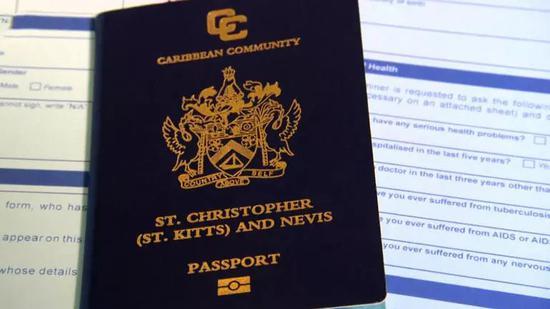 ▲聖基茨和尼維斯護照 圖據CBS新聞