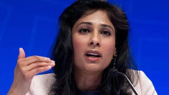 图 via AP;IMF首席经济学家Gita Gopinath