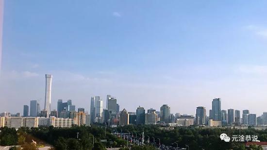 从长城饭店远眺北京CBD