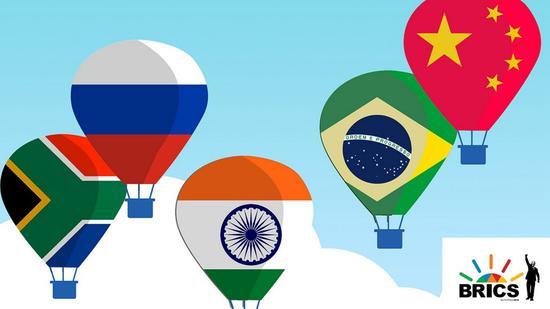 ▲金磚五國:巴西、俄羅斯、印度、中國與南非 (圖via CGTN)