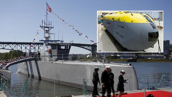 """美國海軍正在進行測試的""""海上獵人""""無人艦船項目"""